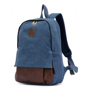 blue canvas backpack for sale