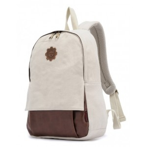 beige canvas backpack for sale