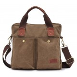 Canvas satchel men, black canvas messenger bags for men