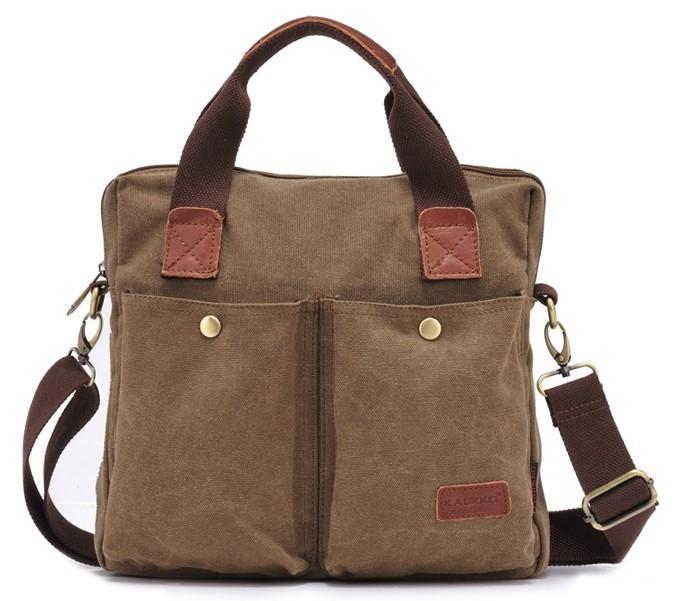 Canvas satchel men, black canvas messenger bags for men - BagsEarth