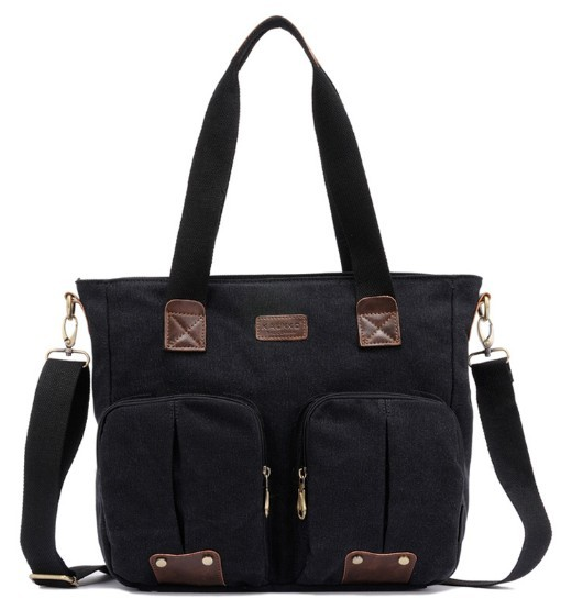 Canvas shoulder bag schoolbag super cute for school - BagsEarth