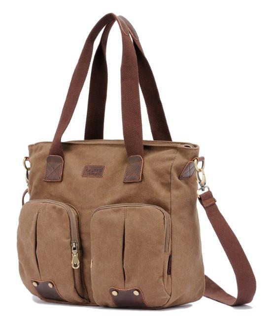 Canvas shoulder bag schoolbag super cute for school