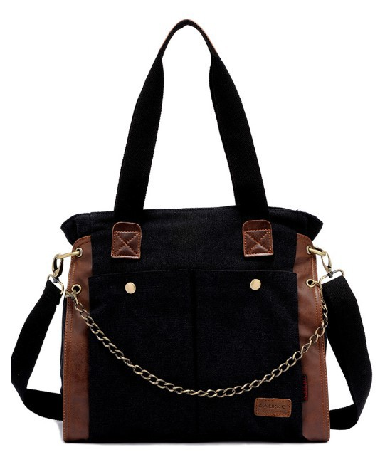Canvas shoulder bag women, large canvas messenger bag for women ...