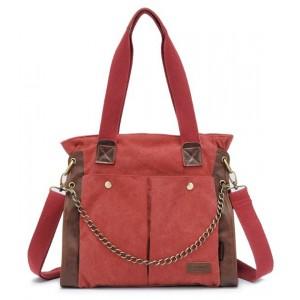 Canvas shoulder bag women, large canvas messenger bag for women