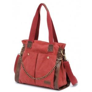 red canvas messenger bag for women
