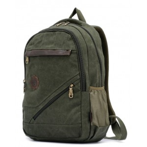 army green canvas backpack men's