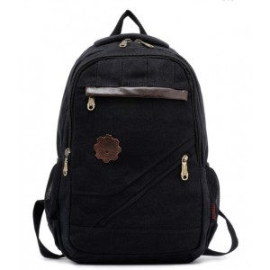 black Canvas rucksack vintage