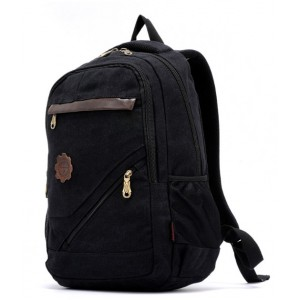 black canvas backpack men's