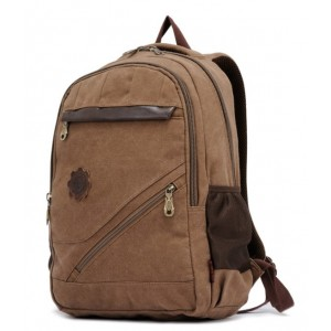 khaki canvas backpack men's