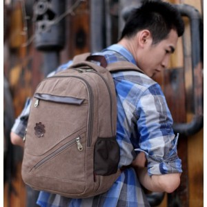 mens Canvas rucksack vintage