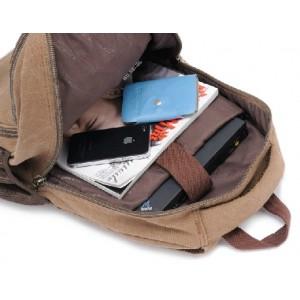 vintage canvas backpack men's