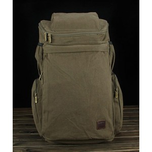 army green Canvas rucksacks for men