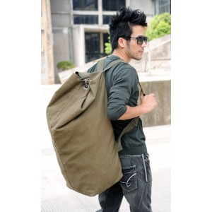 Canvas knapsack bag