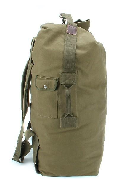 Army Green Canvas Knapsack Bag