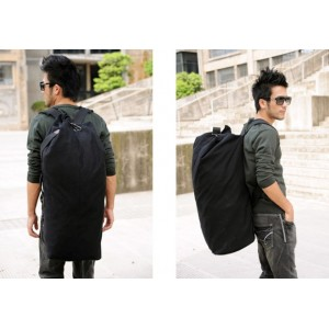 black canvas rucksack large
