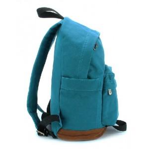 blue Canvas backpack purses women