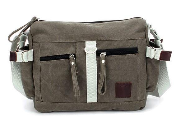 Casual canvas shoulder bag, messenger bag for women fashion ...