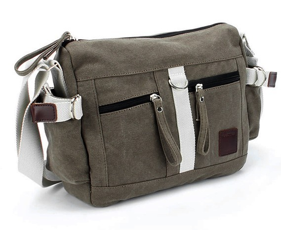 Casual Canvas Shoulder Bag Messenger For Women Fashion Coffee