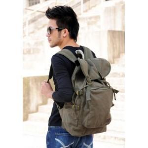 mens Canvas rucksack backpack
