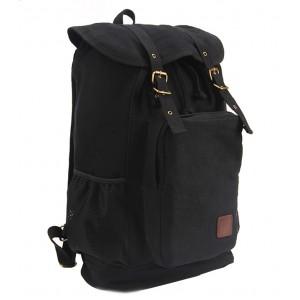 black Canvas rucksack backpack