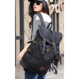 womens Canvas rucksack backpack