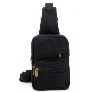 black backpack single strap