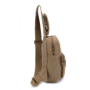 khaki Backpack one strap
