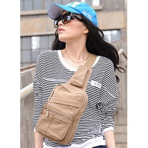 khaki backpack single strap