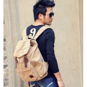 mens Canvas knapsack backpack