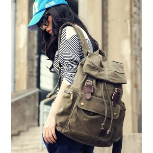 womens Canvas knapsack backpack