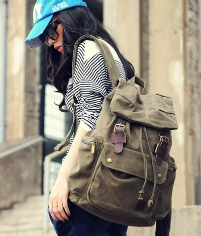 Canvas knapsack backpack, best laptop backpack - BagsEarth