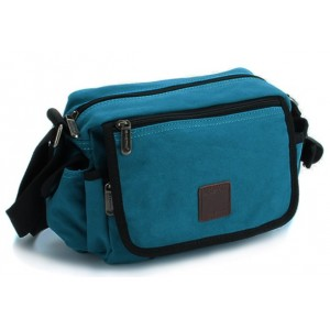 blue IPAD mens canvas messenger bag