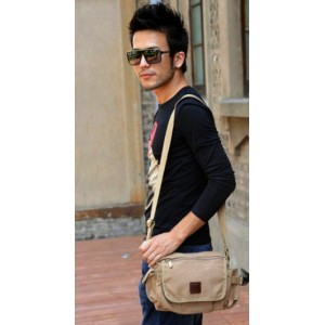 khaki shoulder bag popular design color