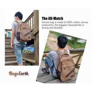 Men's Canvas Backpacks For School