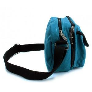 blue Messenger bag for men canvas