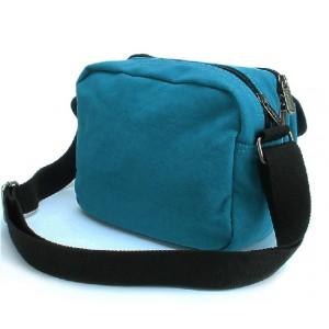 blue small canvas messenger bag
