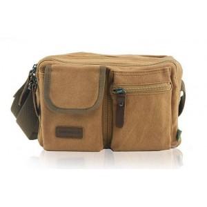 khaki Messenger bag for men canvas