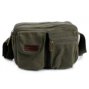 army green Messenger bag for men canvas